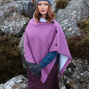 Herringbone Harris Tweed Cape