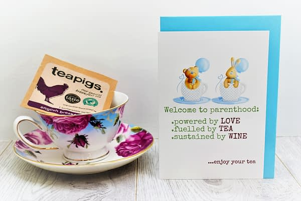 baby card for tea lovers