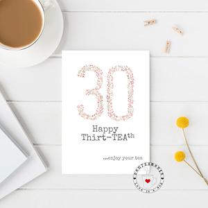 30th tea lovers card