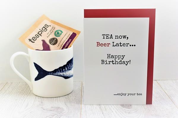 Tea & Beer Lovers Birthday Card