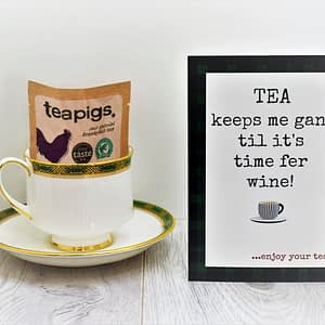 scottish tea card