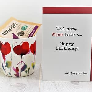 Tea & Wine Lovers Birthday Card