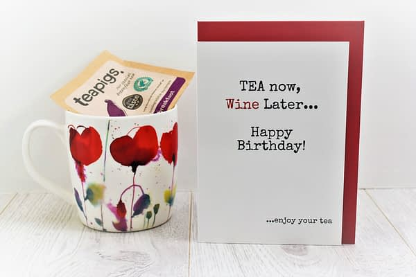Tea & Wine Lovers Birthday Card