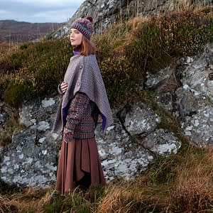 Houndstooth Harris Tweed Cape