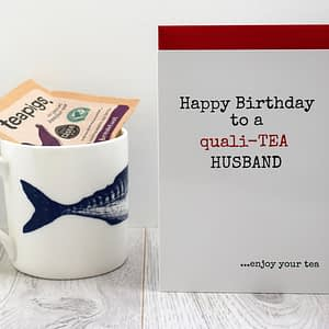 Tea Lovers Birthday Card for husband