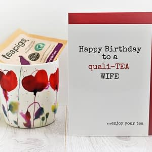 Tea Lovers Birthday Card for Wife