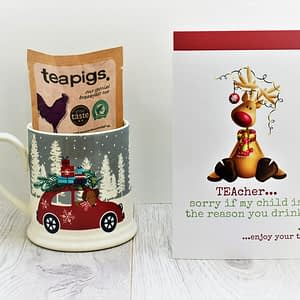 Christmas tea card for teacher
