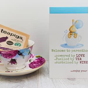 new baby cards for tea lovers