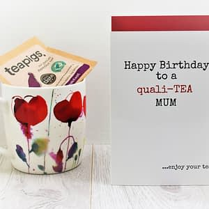 Tea Lovers Birthday Card for mum
