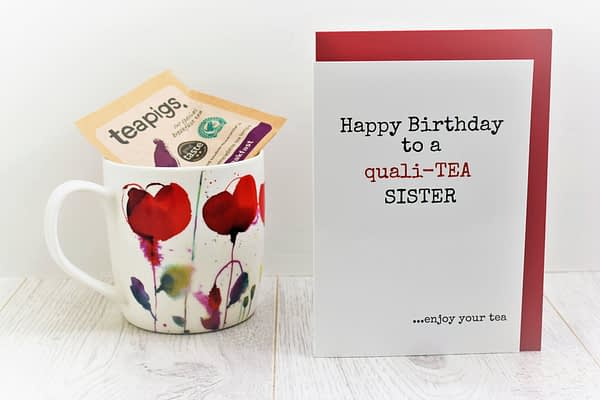 Tea Lovers Birthday Card for sisters