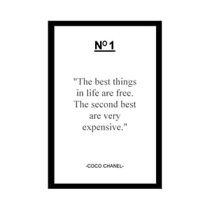 coco chanel quote card