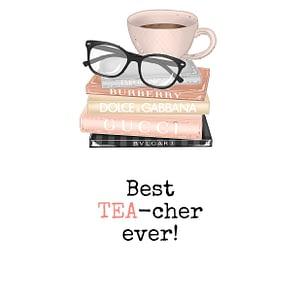 teacher tea lover card