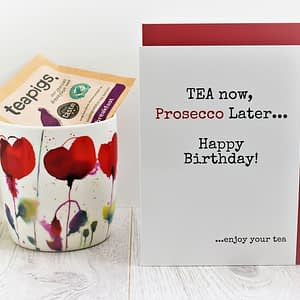 Tea & Prosecco Lovers Birthday Card