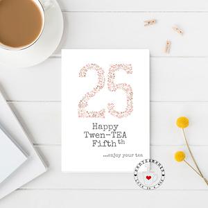 25th tea lover card
