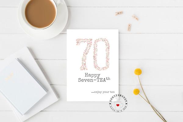 70th tea lovers card
