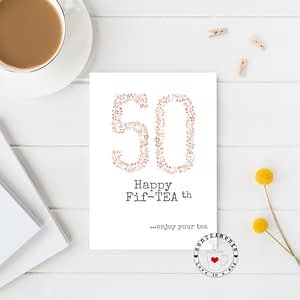 50th tea lovers card